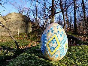 Dekorácie - Háčkované veľkonočné vajíčko - 11554441_