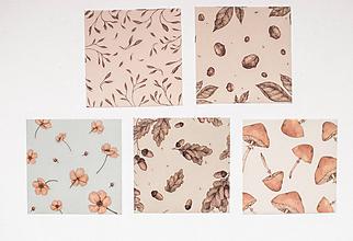 """Papier - Transparentný set háročkov """"jeseň"""" - 11551877_"""