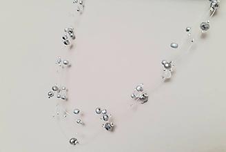 Náhrdelníky - Náhrdelník kvapky (Strieborná) - 11556148_