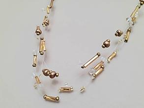 Náhrdelníky - Náhrdelník kvapky (Zlatá) - 11556173_