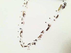 Náhrdelníky - Náhrdelník kvapky (Meď/Bronz) - 11556195_