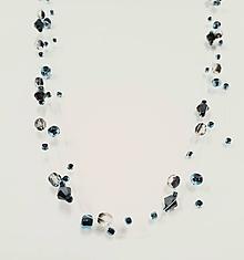 Náhrdelníky - Náhrdelník kvapky (Modrá) - 11556222_