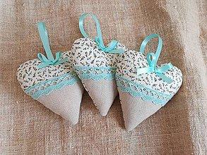 Darčeky pre svadobčanov - Svadobné srdiečka-Mint - 11559021_