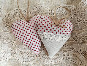 Darčeky pre svadobčanov - Svadobné srdiečka, bodkové - 11559035_