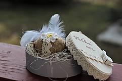 Dekorácie - Vajíčko v krabičke - 11555770_