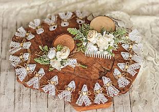 Doplnky - Pierka pre hostí - biela romantika - 11559263_