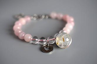 Náramky - Náramok Ružová púpava (2781 A CHO) - 11556043_