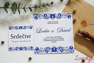 Papiernictvo - Ľudové svadobné oznámenia - 11558313_