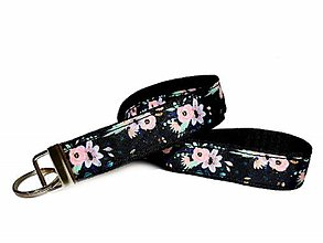 Kľúčenky - Kľúčenka Pink Flowers - 11555811_