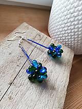Náušnice - Modrozelené - 11559255_