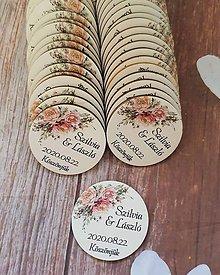 Darčeky pre svadobčanov - Magnetka - tlač na drevo - 11556157_