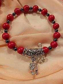 Sady šperkov - sada náhrdelník a náramok z koralu - 11558912_