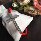 Náramky - Náramok na ruku krížik - 11555698_