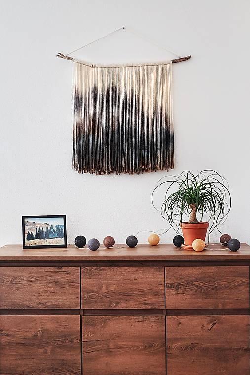 """Dekorácie - Nástenná dekorácia z dreva a vlny """"Súľov"""" - 11558451_"""