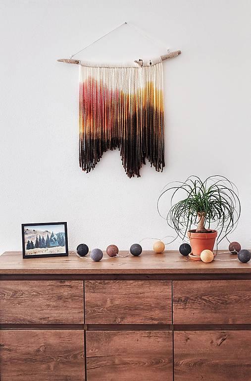 """Dekorácie - Nástenná dekorácia z dreva a vlny """"Púštna ruža"""" - 11558459_"""