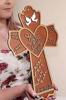 Dekorácie - Svadobný kríž Viera Nádej Láska - 11557454_
