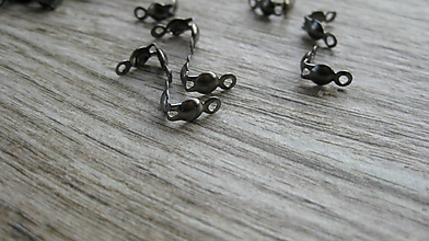Komponenty - Kalota, koncovka čierna, balenie 33 kusov - dopredaj - 11557990_