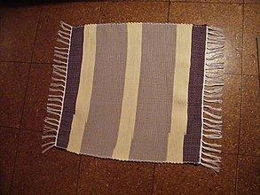 Úžitkový textil - Tkaný koberec hnedo-maslový - 11559176_