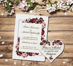 Papiernictvo - Svadobné oznámenie + magnetka - 11560710_