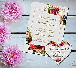 Papiernictvo - Svadobné oznámenie + magnetka - 11560903_