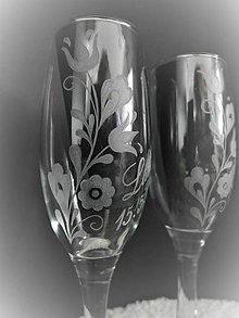 Nádoby - Svadobné poháre, ľudové - 11561397_