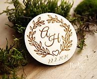 Magnetky pre svadobčanov venček 3