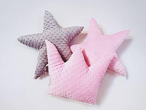 Minky vankúšik hviezdička