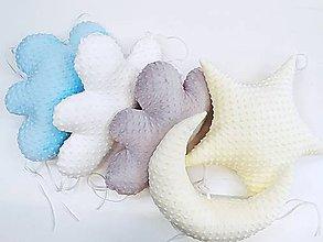 Textil - Minky vankúšik hviezdička - 11561781_