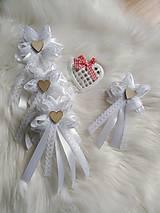 Pierka - Svadobné pierka pre rodičov, svedkov biele - 11559938_