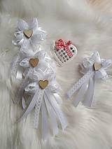 Pierka - Svadobné pierka pre rodičov, svedkov biele  - 11559939_