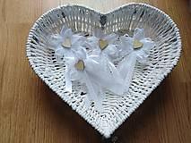 Pierka - Svadobné pierka pre rodičov, svedkov biele - 11559941_