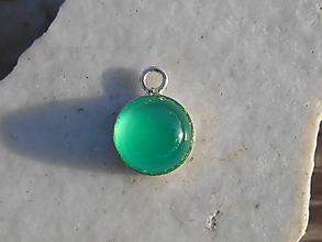 Náhrdelníky - green chalcedón-prívesok-striebro - 11562122_