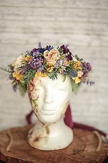 Ozdoby do vlasov - Veľký jarný kvetinový boho venček - 11559408_
