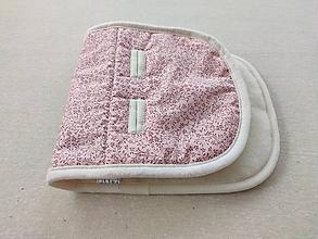 Textil - VLNIENKA Podložka do vaničky Concord Wanderer 100% merino Kvietok jemný ružový - 11560091_