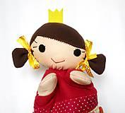 Hračky - Maňuška princezná - v sukničke s tulipánmi - 11562089_