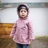 Detské oblečenie - Detská softshell bunda s volánmi - pink - 11560819_
