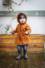 Detské oblečenie - Detská softshell bunda s volánmi - caramel - 11560844_