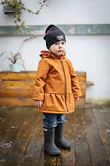 Detské oblečenie - Detská softshell bunda s volánmi - caramel - 11560845_