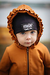 Detské oblečenie - Detská softshell bunda s volánmi - caramel - 11560846_