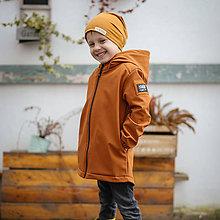 Detské oblečenie - Detská softshell bunda - caramel - 11560649_