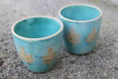 Nádoby - Tyrkysové poháre - 11560309_
