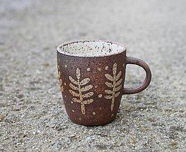 Nádoby - Hrnček na espresso hnedý - 11560321_