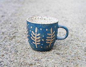 Nádoby - Hrnček na espresso modrý - 11561218_