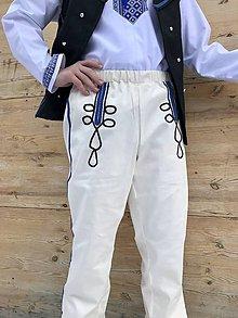 Oblečenie - Pánske krojové nohavice v smotanovej 3 - 11561109_