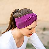 Ozdoby do vlasov - Čelenka dámska elastic & twist fuchsia - 11559640_
