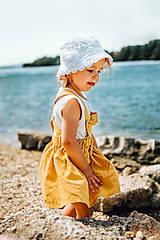 Detské oblečenie - Ľanová sukňa s mašličkami - 11562193_