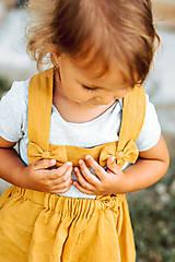 Detské oblečenie - Ľanová sukňa s mašličkami - 11562197_
