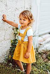 Detské oblečenie - Ľanová sukňa s mašličkami - 11562198_