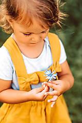 Detské oblečenie - Ľanová sukňa s mašličkami - 11562199_