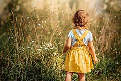 Detské oblečenie - Ľanová sukňa s mašličkami - 11562200_